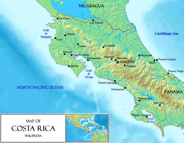 Kostaryka - jaki kontynent